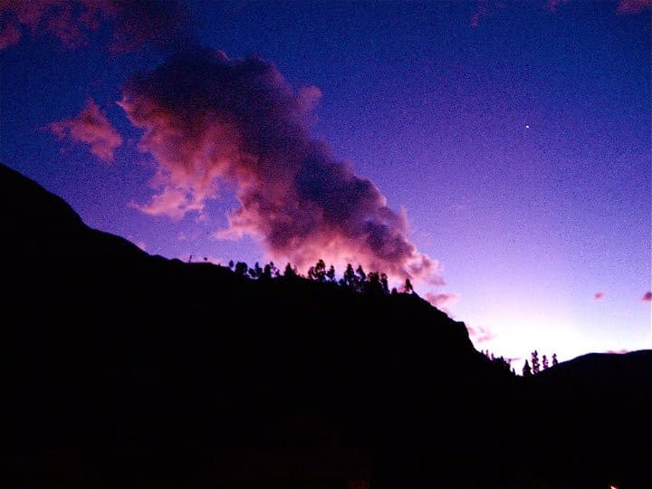 Andes Purple Sky