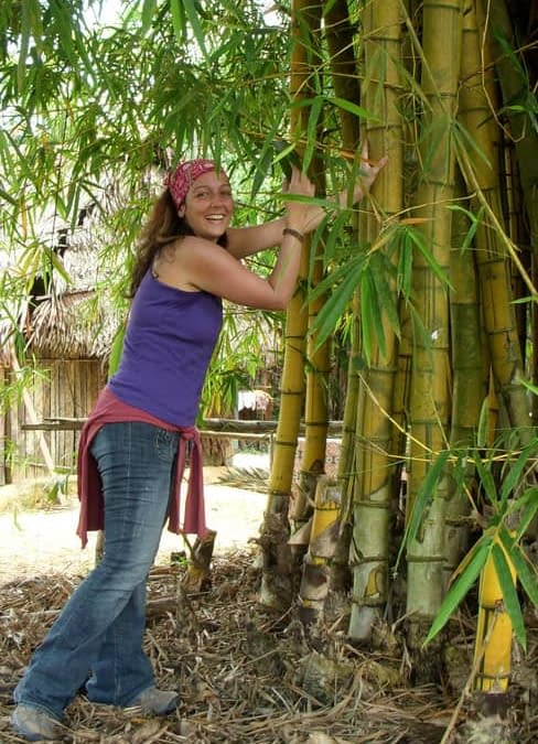 Meghan with Bamboo Tree