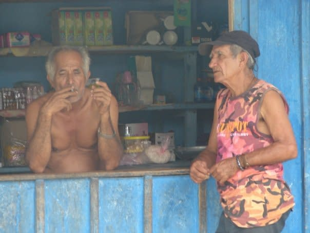 Two Men in the Shamans' Village