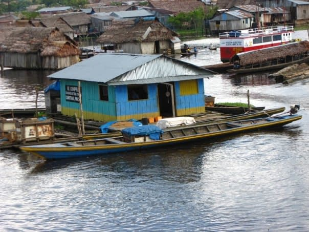 Floating House Belen, Iquitos, Peru