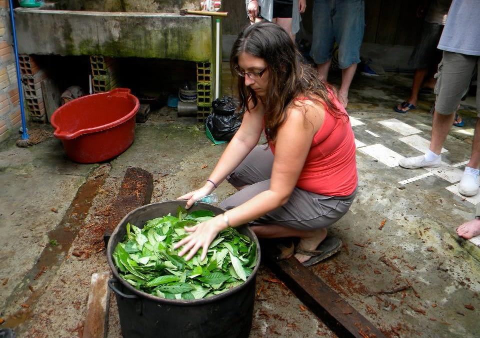 Meghan Preparing Ayahuasca